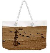 Bison And Windmill Weekender Tote Bag