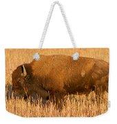 Bison At The Elk Ranch In Grand Teton National Park Weekender Tote Bag