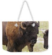 Bison From Yellowstone Weekender Tote Bag