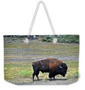 Bison In Lamar Valley Weekender Tote Bag by Marty Koch