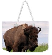 Bison On The Prairie Weekender Tote Bag
