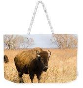 Bison Tall Grass Weekender Tote Bag