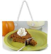 Bite Of Pumpkin Pie Weekender Tote Bag