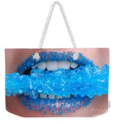 Biting Into Blue Rock Candy  Weekender Tote Bag