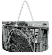 Bixby Creek Bridge Black And White Weekender Tote Bag by Benjamin Yeager