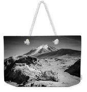 Bizarre Landscape Bolivia Black And White Select Focus Weekender Tote Bag