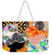 Bizzarro Colorful Psychedelic Floral Abstract Weekender Tote Bag