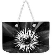 Black And White Clematis Weekender Tote Bag
