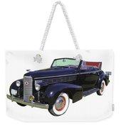 Black 1938 Cadillac Lasalle Weekender Tote Bag