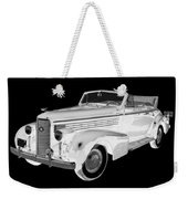 Black An White 1938 Cadillac Lasalle Pop Art Weekender Tote Bag