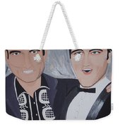 Black And Blue Weekender Tote Bag