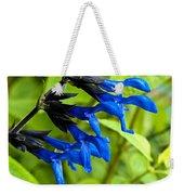 Black And Blue Salvia Weekender Tote Bag