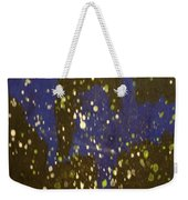 Black And Blue Splatter Weekender Tote Bag