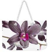 Black And Purple Orchid Weekender Tote Bag