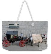 Black And Red Horse Carriage - Vienna Austria  Weekender Tote Bag