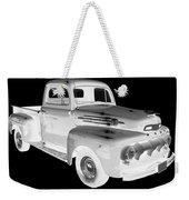Black And White 1951 Ford F-1 Pickup Truck  Weekender Tote Bag