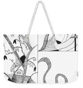 Black And White Abstract #2 Weekender Tote Bag