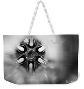 Black And White Abstract Burst Weekender Tote Bag