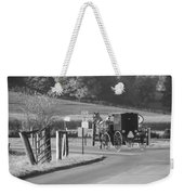 Black And White Amish Horse And Buggy Weekender Tote Bag