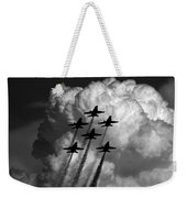 Black And White And Blue Angels Weekender Tote Bag