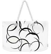 Black And White Art - 133 Weekender Tote Bag
