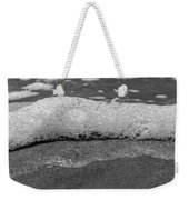 Black And White Beach Bubbles Weekender Tote Bag