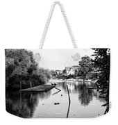 Black And White - Boathouse Row Weekender Tote Bag