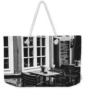 Black And White Cafe Weekender Tote Bag
