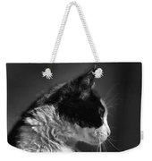 Black And White Cat In Profile  Weekender Tote Bag