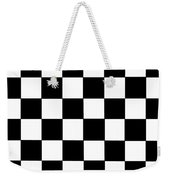 Black And White Checkered Flag Weekender Tote Bag