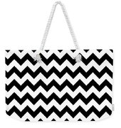 Black And White Chevron Weekender Tote Bag