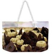 Black And White Chocolate Weekender Tote Bag