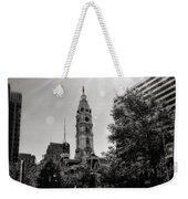 Black And White City Hall Weekender Tote Bag