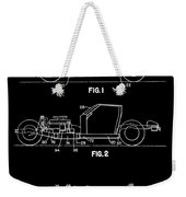 Black And White Corvette Patent Weekender Tote Bag