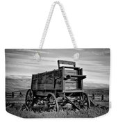 Black And White Covered Wagon Weekender Tote Bag