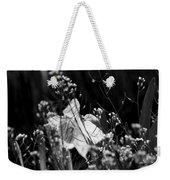 Black And White Daffodil Weekender Tote Bag