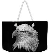 Black And White Eagle Weekender Tote Bag