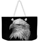 Black And White Eagle Weekender Tote Bag