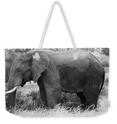 Black And White Elephant Weekender Tote Bag