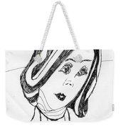Black And White Fashion Weekender Tote Bag