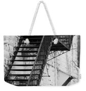 Black And White Fire Escape Usa Near Infrared Weekender Tote Bag
