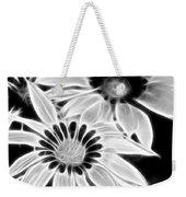 Black And White Florals Weekender Tote Bag
