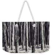 Black And White Forest Weekender Tote Bag
