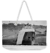 Black And White Freighter Weekender Tote Bag