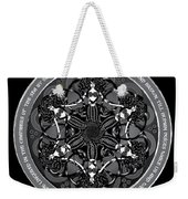 Black And White Gothic Celtic Mermaids Weekender Tote Bag