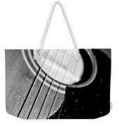 Black And White Harmony Guitar Weekender Tote Bag