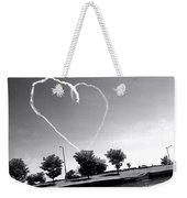 Black And White Heart Weekender Tote Bag