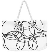 Black And White Hoops Weekender Tote Bag