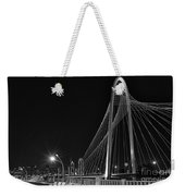 Black And White Hunt-bridge-dallas Weekender Tote Bag