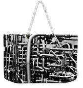 Black And White Jet Engine Weekender Tote Bag by Dan Sproul